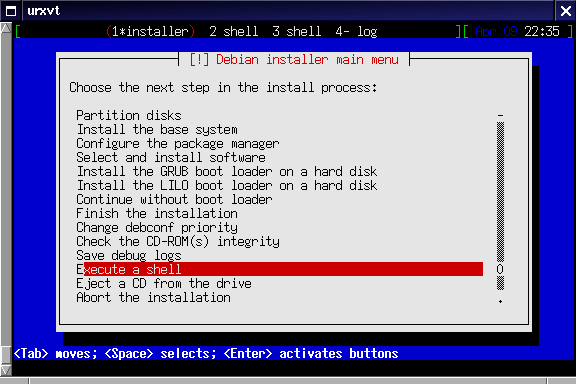 Installing Debian on QEMU virtual serial port console